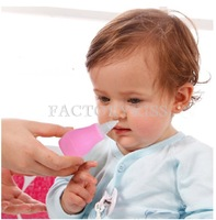 Free Shipping Silicone Baby Children Nasal Aspirator Toddler Nose Cleaner Infant Snot Vacuum Sucker 4019-012