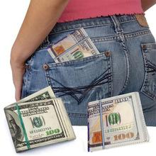 New Fashion 1Piece 100 Dollar Bill Money Genuine Leather Wallet Man Wallet Male s Short Purse