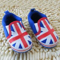 UK Flag Style Boy Toddler Shoes Soft Sole Crib Shoes Prewalker Sneaker S-L 0-18M