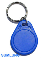 100pcs/bag NTAG203 RFID Keyfob 13.56MHz ISO14443A IC Smart Token with key chain Waterproof Universal NFC Tag for Android phones