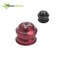 "ROCKBROS Sealed Cartridge Bearings 44mm Threadless Semi-Integrated Headsets 1 1/8"", Black/Red"