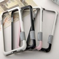 "Wolesale Soft PC+TPU Plastic Bumper Case For iPhone 6 4.7"" Plus 5.5 Frame Cover Phone Case Walnutt Double Color Shell+Retail Box"