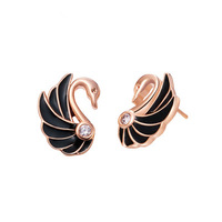 Spring oil stud earring fashion accessories - small