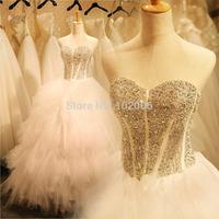 Real Pictures Princess Ball Gown Wedding Dress Bride Tube Top Wedding Gowns Beading Vestido De Noiva Robe De Mariage Bodas 2015