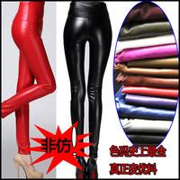 Plus velvet thickening elastic waist PU legging elastic high waist faux leather legging plus size trousers