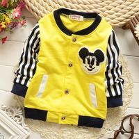 4pc/lot baby cardigan mickey boys clothing 2015 spring kids clothes wholesale panya 722