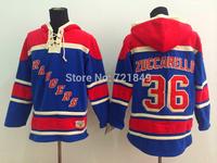 2015 Cheap Ice Hockey Hoodie New York Rangers 36 Mats Zuccarello Ice Hockey Hoodies/ Hooded Sweatshirt