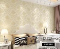 Non-woven wallpaper art paperbedroom living room European-style garden wallpaper 3D  TV backdrop wallpaperflower  wall paper