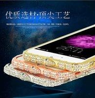 1pc Luxury Diamond Aluminum Bumper Frame for iPhone 6 Plus 5.5 Metal Case Cover Rhinestone Bling Snakehead+Retail Box