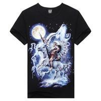 Men Indian Horse Cool Print t-shirt Tee Short Sleeve Shirt Tee Tops for Man XL XXL XXXL