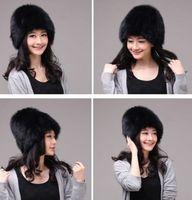 Winter Hat Real Fox Fur Hat Russian Ushanka Cossack Women Beanie HC 018 1