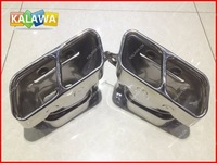 Modified tail pipes fit for Mer.cedes ben.z S Class S600 (Silver) end pipe silencer 1A Freeshipping GGG
