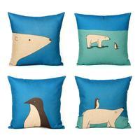 ROCKFAITH original cartoon printed minimalist Ikea sofa cushion pillow comfortable cushions office nap