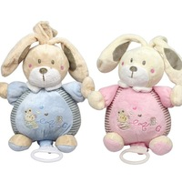 1 piece Niuniu Daddy Baby Toys Baby Rattles Mobiles animal musical toys plush rabbit toys free shipping