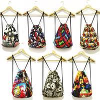 7 Kinds Fashion Women Printing Backpack Canvas Vintage Original Animal Backpacks Travel Duffel Bag New 2015 Back Pack Schoolbag