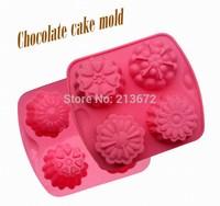 DIY Chocolates Eco-Friendly Food-grade Silicone Cake Mold Originality Convenient Fashion Creative Trends Four Flower Cake Tools
