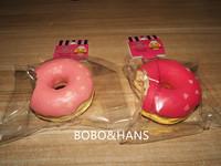 New style Cute (bite) 7 cm Donut squishy charm / mobile pendant Strap / Wholesale