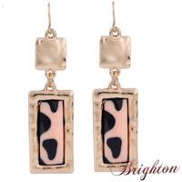 Brincos Jewelry New Fashion Women Ethnic Vintage Gold/Silver Plated Enamel Shape Long Hook Statement Earrings