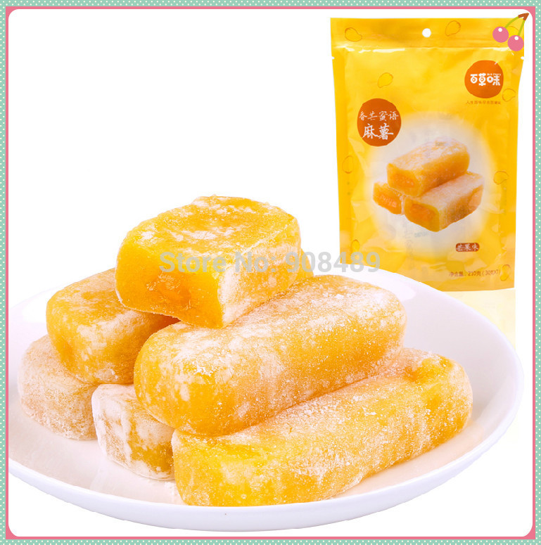 Mango flavor filling pastries Snacks 420g 210g 2 box Sweet Soft candy cookie Cake Grain Products