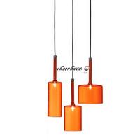 Modern Fashion 3 Lights AXO Light Spillray Pendant Lamps Transparent  Orange Glass Pendant Lamps SP3 Ceiling Lights PL305