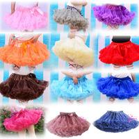 Fashion Fluffy Chiffon Pettiskirts tutu Baby Girls Skirts Princess skirt dance wear Party clothes 2-8 Ys 20 colors