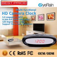 New 2015 Mini Hidden Table Alarm Clock Camera Motion Detection Audio Recorder 1080P HD Mini DVR Secret Camera Clock Nanny Cam