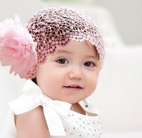 charming flowers Baby Infant Kid Girl Toddler Hairbands Lace Bow Flower Headband Hair Accessories