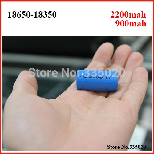 Real Full 900mah 18350 2200mah 18650mah Rechargeable Li ion Lithium Battery for Electronic Cigarette 2pcs lot
