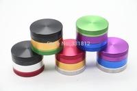 1pc/lot Colorful 3 Part Space Tobacco Grinder mini  portable metal Herb grinder