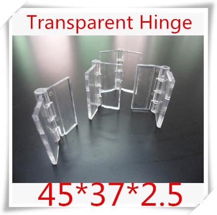 100PCS/LOT Acrylic Hinge , perspex Transparent Hinge , Plexiglass Hinge , organic glass hinge 45x37mm ,furniture accessory(China (Mainland))