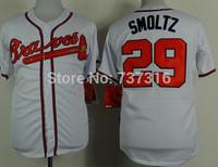 Cheap Sale Man Jerseys Atlanta Braves #29 John Smoltz Jersey White 2015 New Men's Baseball Jerseys Accept Mix Order