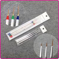 3 Fine Drawing 3 Striping Liner Design Set Nail Tool, Nail Art Pens Brushes + Free Shipping (NR-WS73)