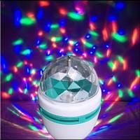 RGB small magic ball LED stage lighting KTV laser light bar colorful lamp rotary lamp E27 85-260V Chiristmas Holiday Lighting
