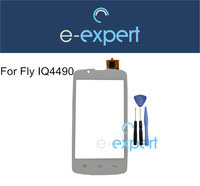 White Touch sensitive Glass Lens Repair for Fly IQ4490 ERA Nano 4 Fit IQ 4490 Touch screen Display + Gifts