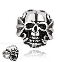 Men's Punk Ring 316L Stainless Steel Vogue Skull Flower Ring For Women!Free Shipping!GMYR003