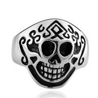 Men's Punk Ring 316L Stainless Steel Vogue Skull Ring For Women!Free Shipping!GMYR008