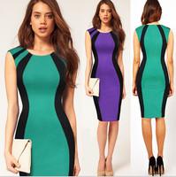 Summer Dress 2015 Black Sexy Womens Stretch Evening Party Casual Slim Bodycon Pencil Dresses Vestidos Size:S-XXL