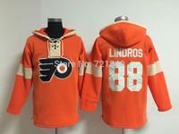 Philadelphia Flyers Hoodies 88 Eric Lindros 27 HEXTALL 16 Bobby Clarke/28 Claude Giroux Ice Winter Hoodie cheap china jersey