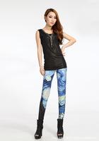 2014 New Women Sexy Universe Galaxy Cloud Printed Leggings Pants Elasticity Fashion Space Milk Silk