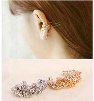 ES839 Hot Fashion 2015 New Korean wild tide imitation diamond ear clips inlay Wholesale Jewelry Accessories