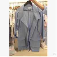 Women Spring Autumn Cotton Linen Coat Long Sleeve Turn Down Collar Zipper Jacket Female Casual Wear Coat