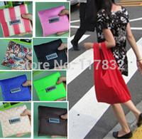 Hot sale Eco-friendly Japan Baggu eco shopping bag folding storage grocery kitchen bags reusable folding handle carry Bag