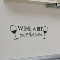 Wine Cup Wall sticker  Vinyl Wall Decal  Mural Wall Art  Home Decor