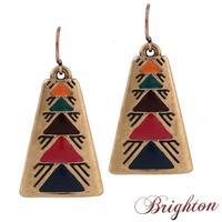Fashion Simple Design Geometry Vintage Earrings Colorful Triangle Pattern Dangle Earrings Jewelry For Women