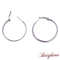 2015 New Arrival Classic Design Big Round Shape Simple Style Statement Silver Plated Hoop Earrings Jewelry for women