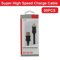 50PCS Wholesale 1M 3X Faster Charger Cable Super High Speed Micro USB Cable for Samsung HTC LG Sony Nokia Huawei Xiaomi etc
