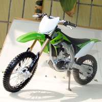Free Shipping 5pcs/pack Wholesale 1/12 Scale Diecast Motorcycle Model Toys Kawasaki KX 450F Green Metal Motorbike Model Toy