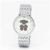 Fashion multicoloured bears watch Rose Gold Rhinestone Women Dress Watch Fashion Watches relojes de marca mujer