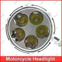 Three Generation Motorcycle RGB LED Headlight/ Fog lamp  High/Low Beam Motorbike Lamp M03D Freeshipping ^^GG01