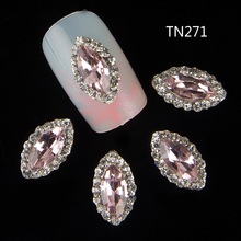10pc Glitter Rhinestones 3d Metal Alloy Nail Art Decorations New Arrive,Alloy Nail Charms, Jewelry on Nails Salon Supplies TN271